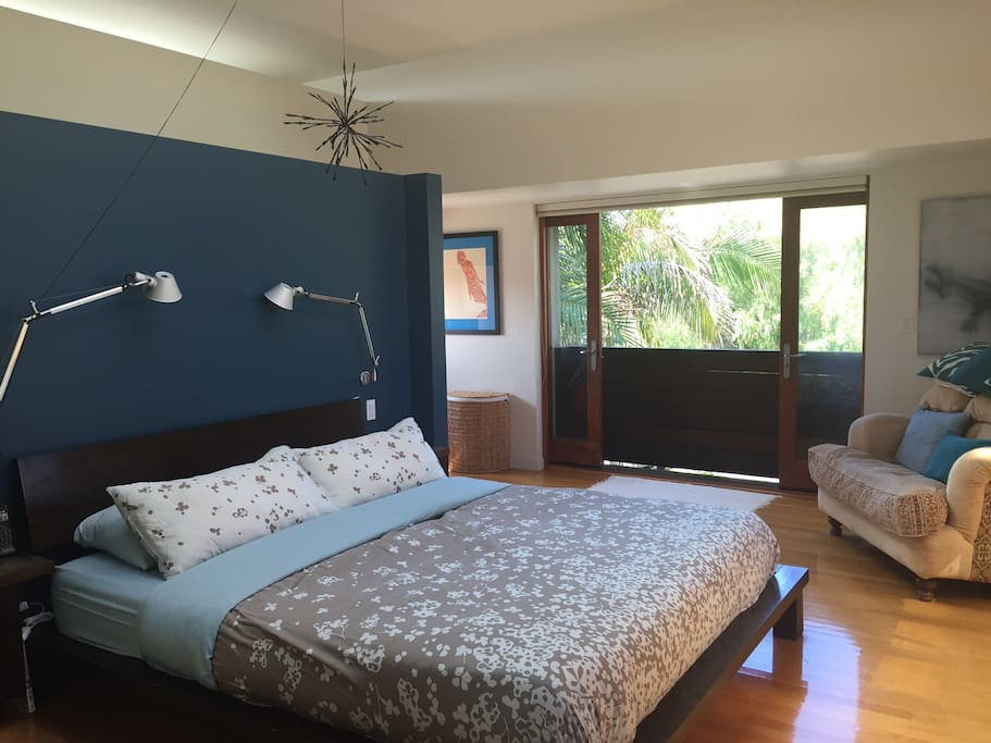 Cal King bed, tons of natural light and closet space in master bedroom.