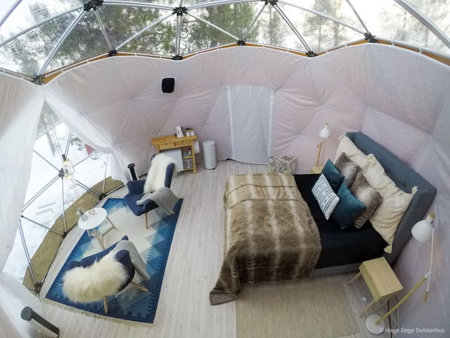 unique stay in a dome, where luxury meets nature.
