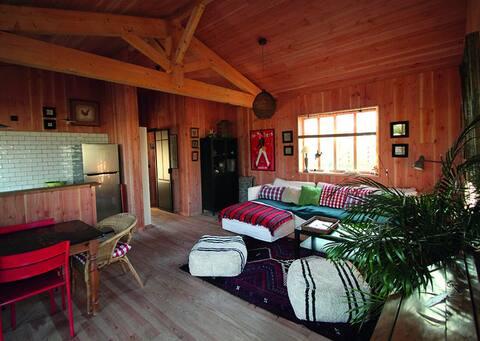 Cabane avec 2 chambres  jardin Bassin  d'Arcachon