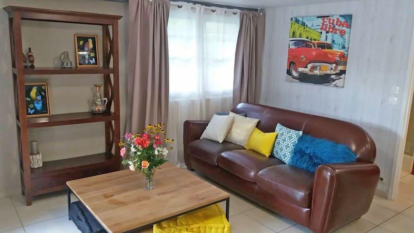 cosy appartement avec beau jardin 20min de Bdx