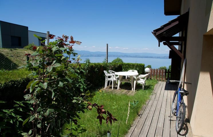 Appartement avec jardin & vue sur lac