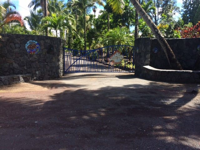 Front wall and gated entry