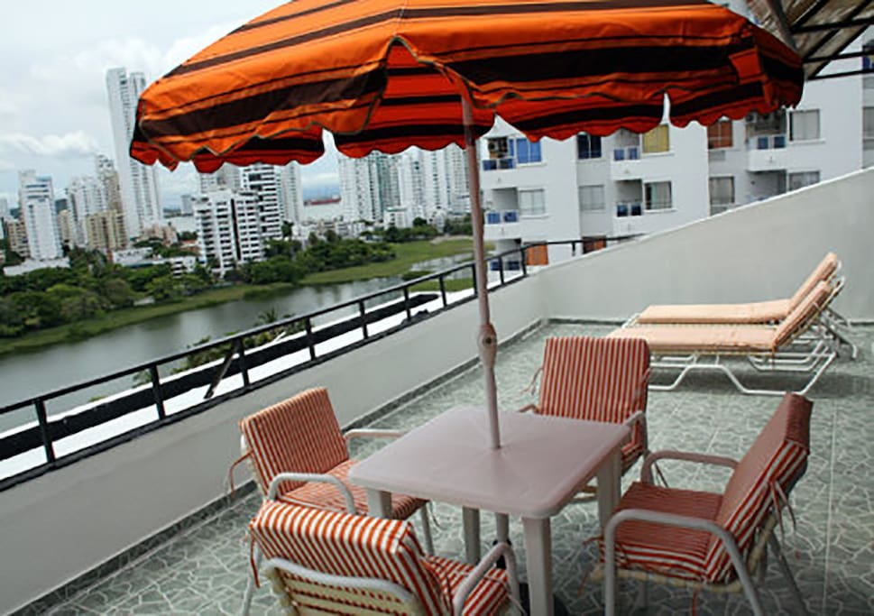 Big Terrace at the 11th floor with seaview