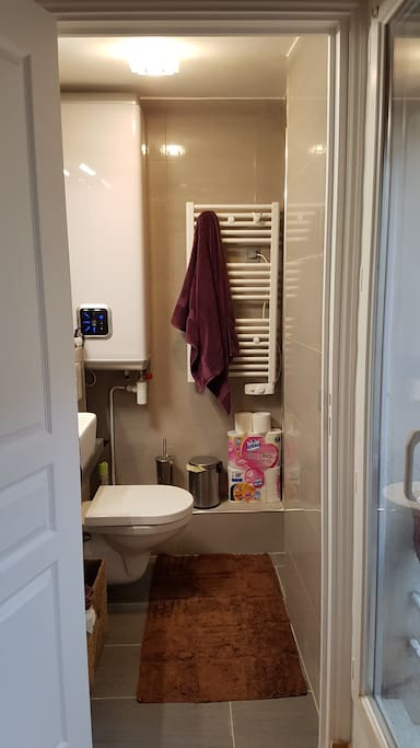 view from inside the WC, to the right it is the access to the shower.