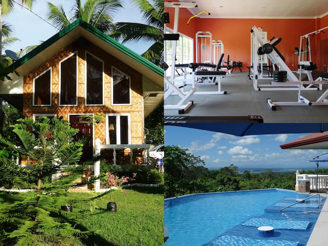 Casa Lankenua, airconditioned, with pool and gym