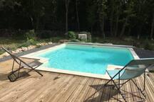 piscine carrée chauffée