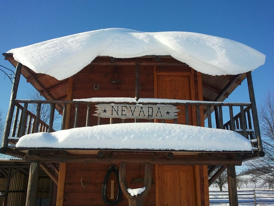 Chata Nevada v zimě