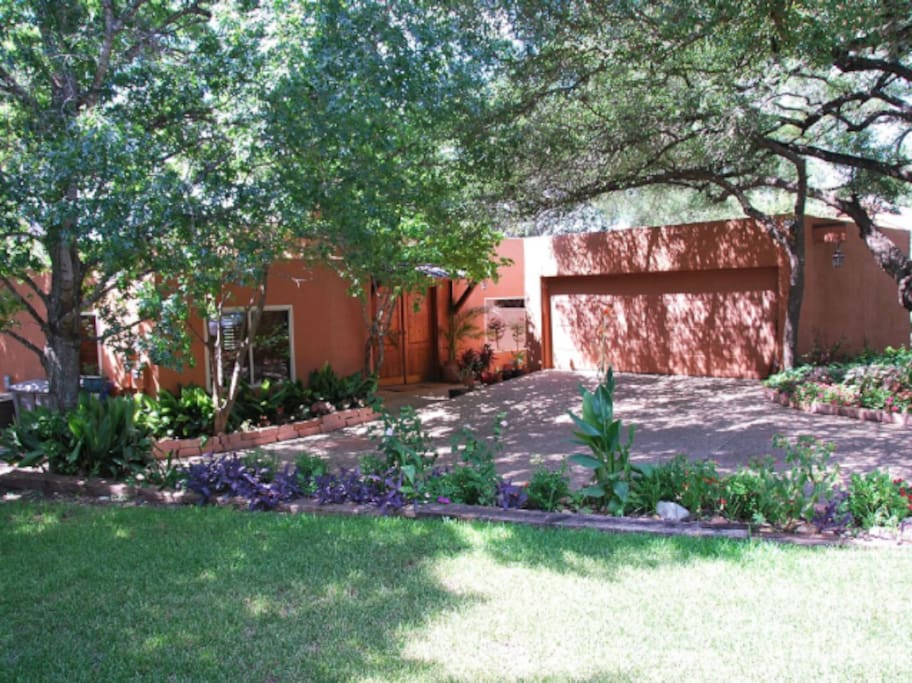 The home was built in a distinctive Santa Fe architectural style, which is somewhat rare for Austin