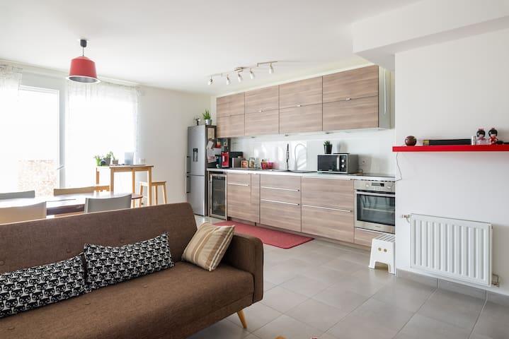 Chambre dans T4 confortable proche PartDieu - Villeurbanne - Lägenhet