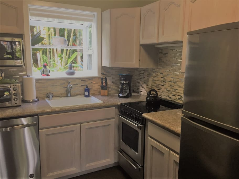 Recently remodeled kitchen makes dining-in a breeze