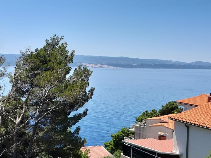 Adriatic sea view apartmentA4 OMIŠ,MARUŠIĆI,SPLIT