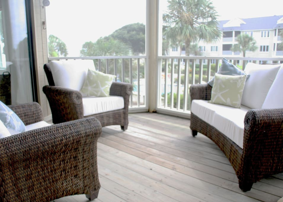 Spacious Porch Accessible from Master Bedroom and Living Room