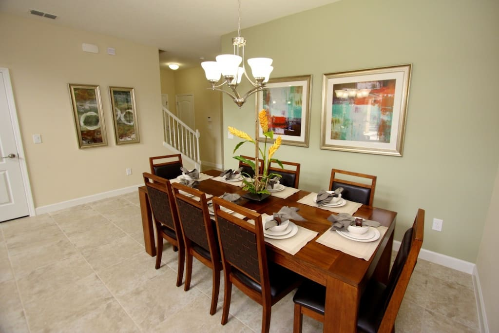 Dining Table w/Leather Seating for Eight (8) - View 2