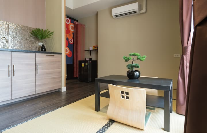 Family suite Japanese Style room - 100m from BTS