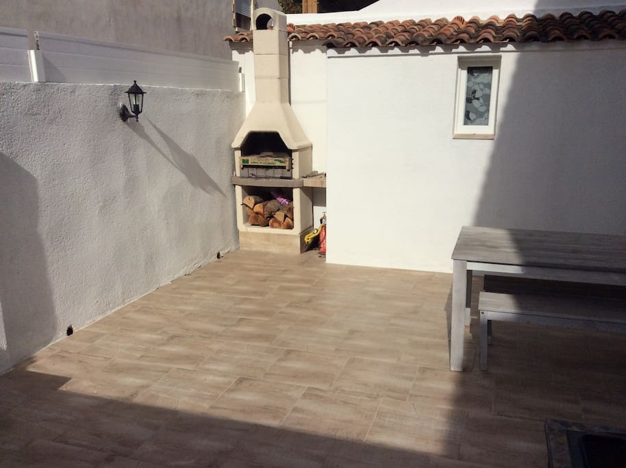 terrasse 40m2, barbecue