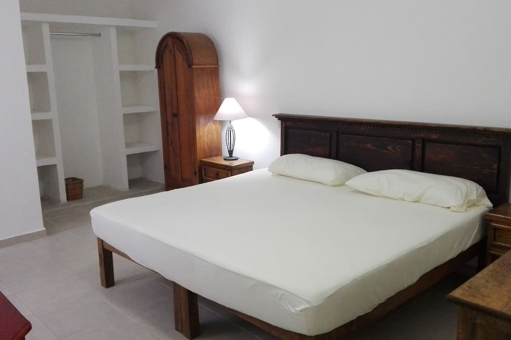 Main bedroom with AC and bathroom