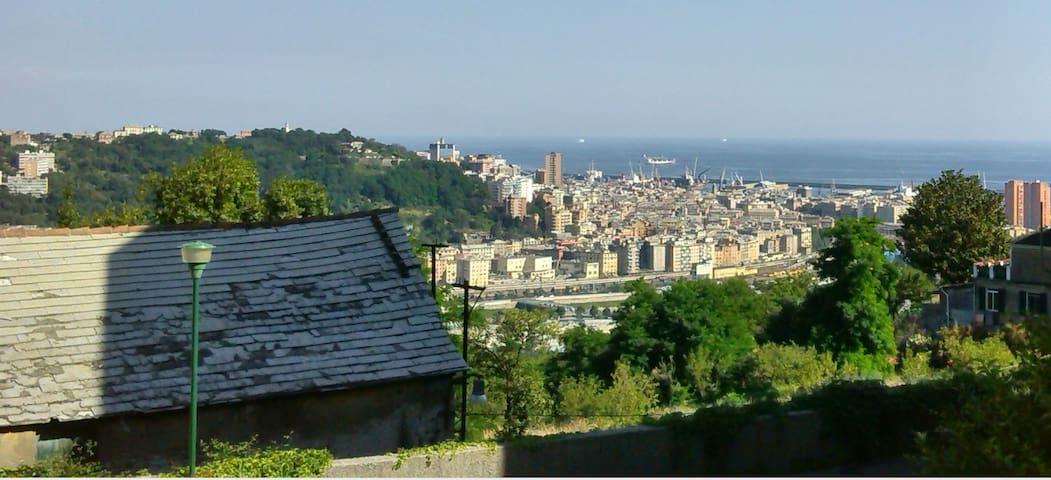 Sulle alture di Genova a 20 minuti dal centro - Genua - Appartement