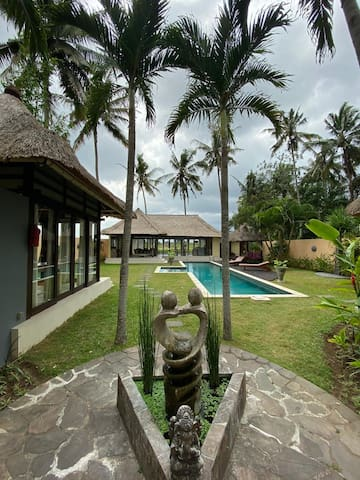 Luxury Villa in Ubud, Rice Field View
