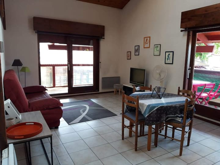 Appartement 4 pers Biscarrosse bourg plein centre