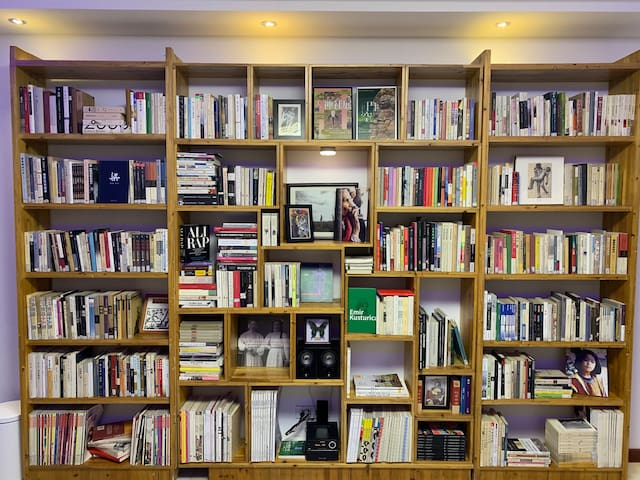 满墙的书架是我的爱