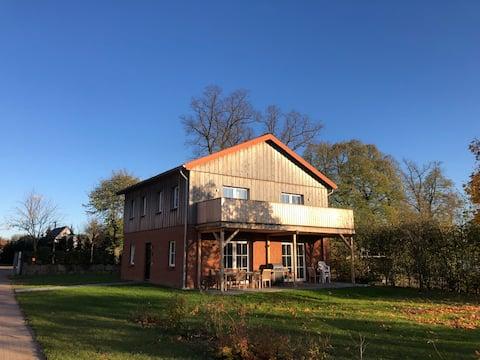 Farm-Chalet Renzow Apartment Garten