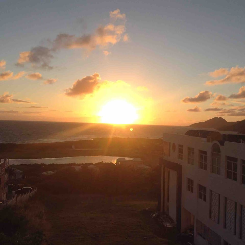 Wake up to the sunrise from your bed or the balcony!  Come to St.Kitts for the most popular annual Caribbean Music Festival.  Events will be held 7 minutes drive from our location.
