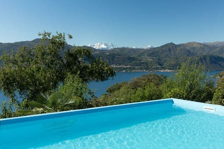 Dolce Vita with pool and lake view - Lortallo - アパート