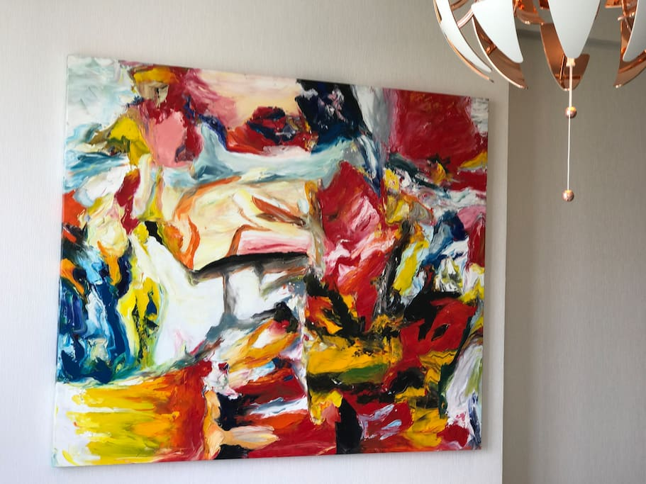 Living room oil Painting will mesmerize your eyes