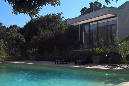 Villa contemporaine dans jardin méditerranéen - Assas - Villa