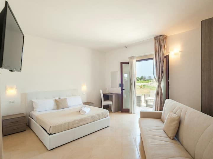 Stanza privata con bagno a villa Diletta