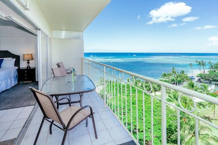 **Professionally Sanitized**Ocean Views+Waikiki Shore Condo+Full Kitchen! - Waikiki Shore Ocean Front 1 BDR on the 10th Floor