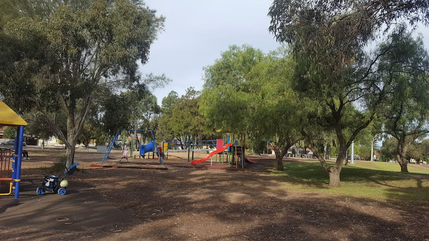 Fantastic playground across the street