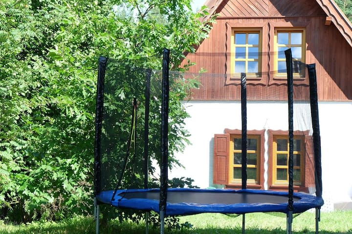 Masurian settlement - house for 6 people 800 m from the lake - 2 bedrooms
