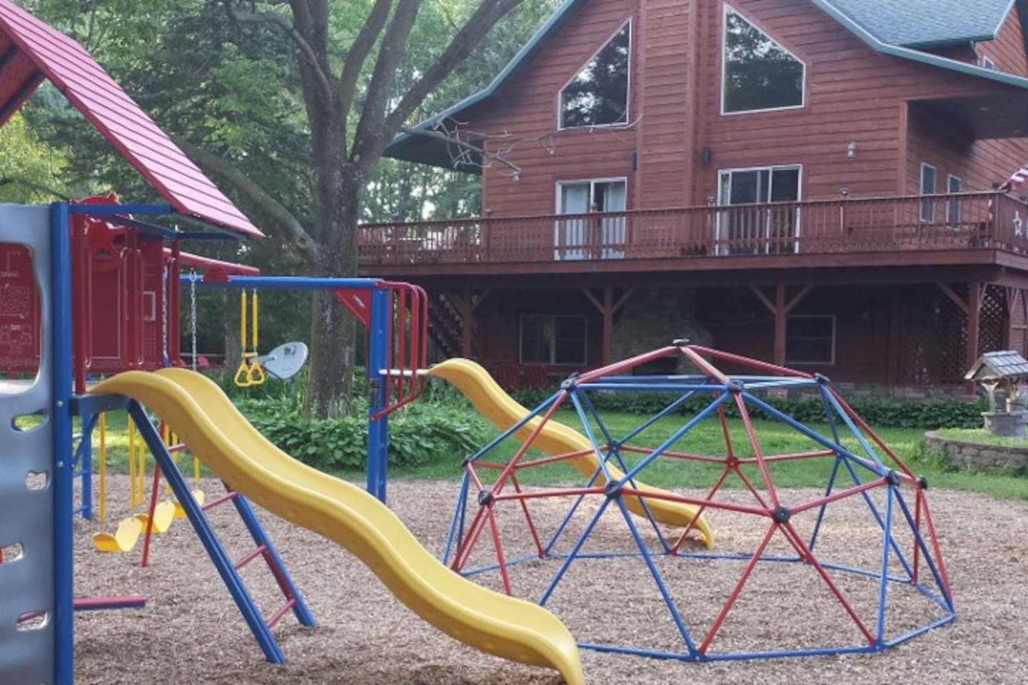 Playset and play area on premises