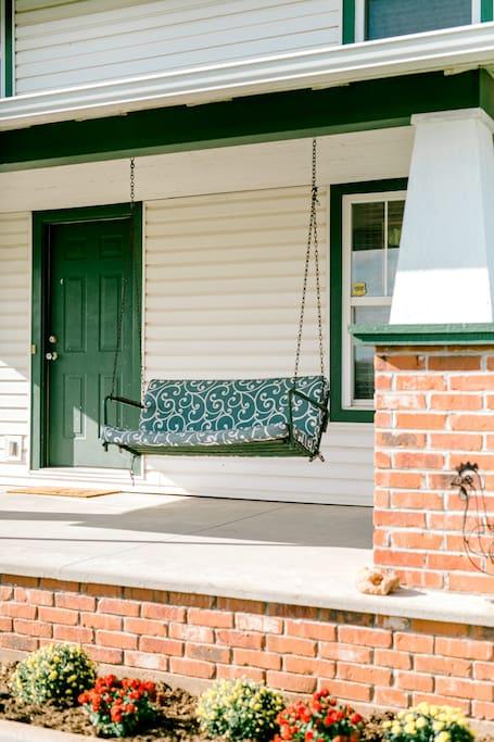 Enjoy the porch swing!