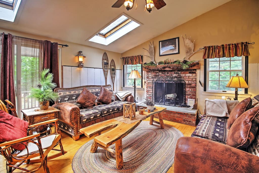 Lounge and unwind in the cozy living room.