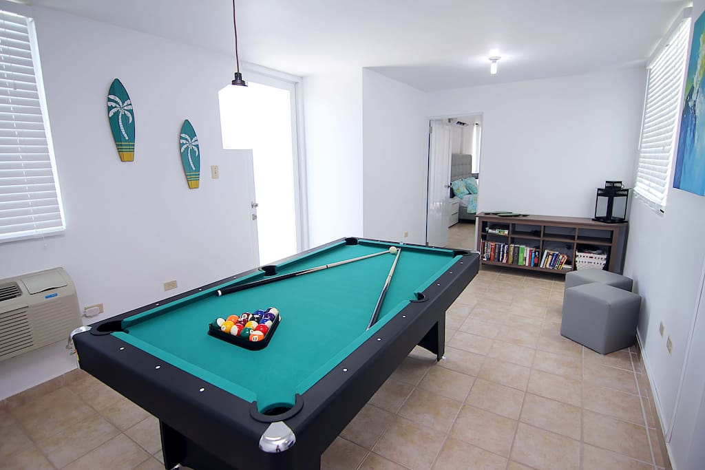 Private Billiard / Ping Pong Table. Door in the left access one of the terraces facing the beach