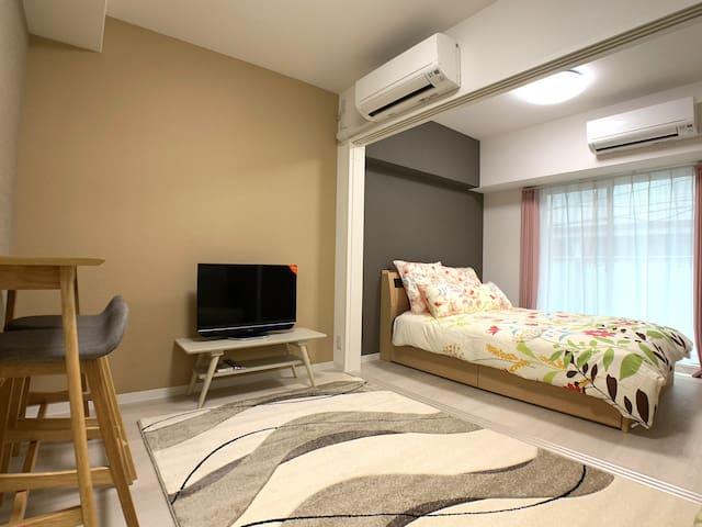 OSAKA機場接送 & 黑門市場1分 高級公寓日本橋車站 1BR 1202