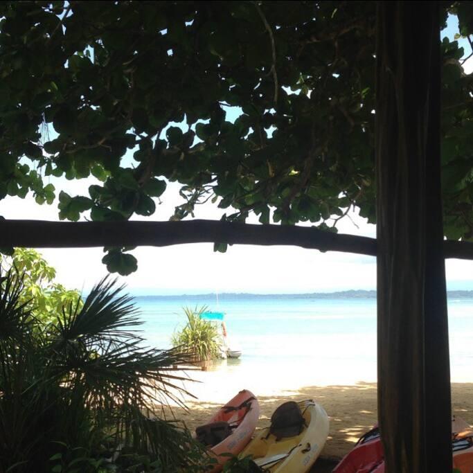 View from Pelicano's private porch.