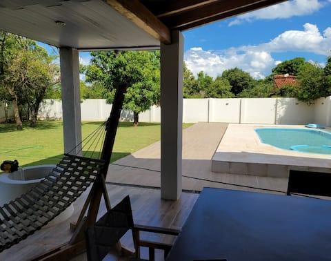 Moderna casa de vacaciones en Paraguari