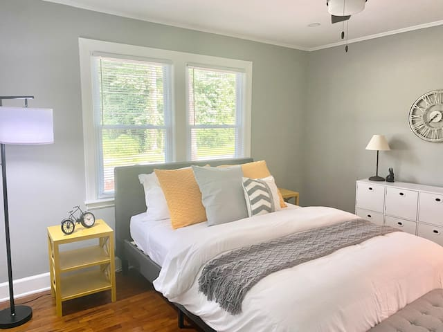 Master Bedroom. Light and bright, comfy and waiting for you!