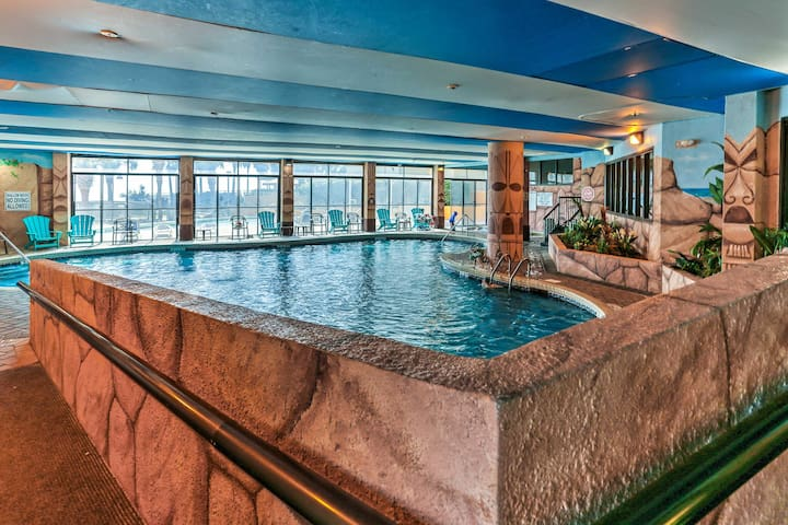 There's even a fun indoor pool.