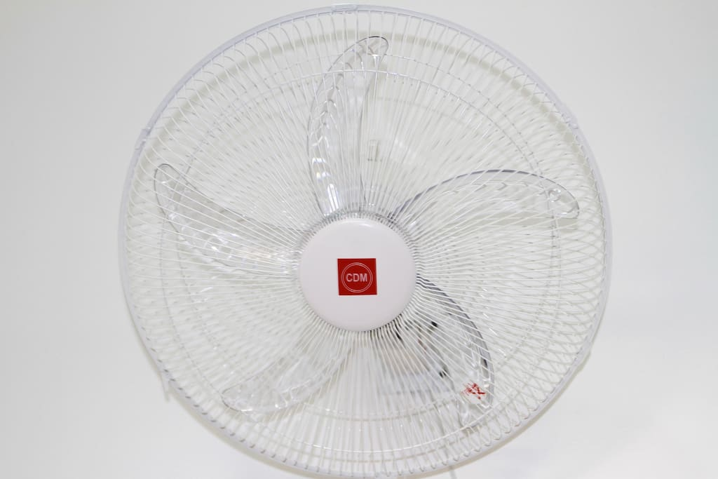 Each room is equipped with a high power fan, perfectly positioned in the room so you can be comfortable in your space.