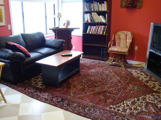 TV room, library