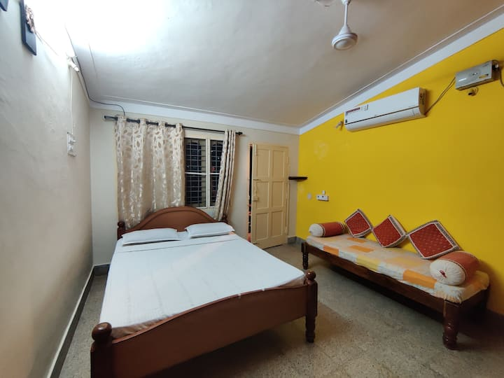 Private room on terrace with optional AC & kitchen