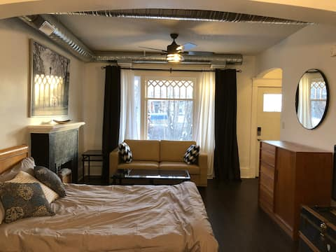 Spacious STUDIO Apartment Downtown WIFI + NETFLIX