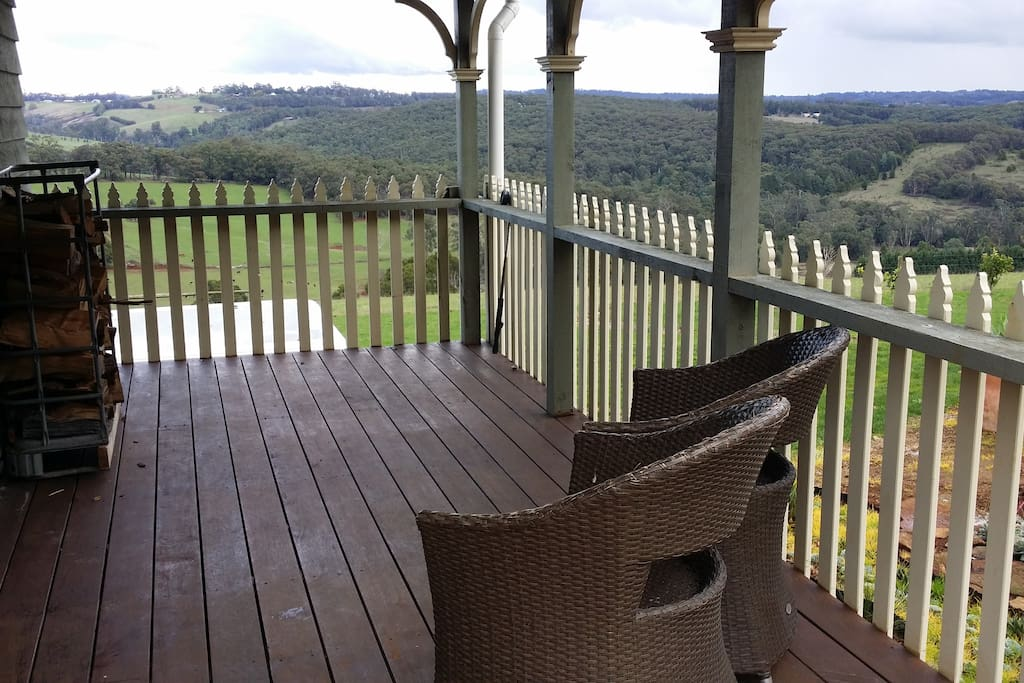 Private deck looking onto to amazing views relax and enjoy