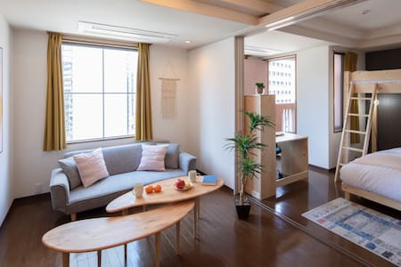 Umeda Osaka Station! Comfort SIMMON Double bed!  C
