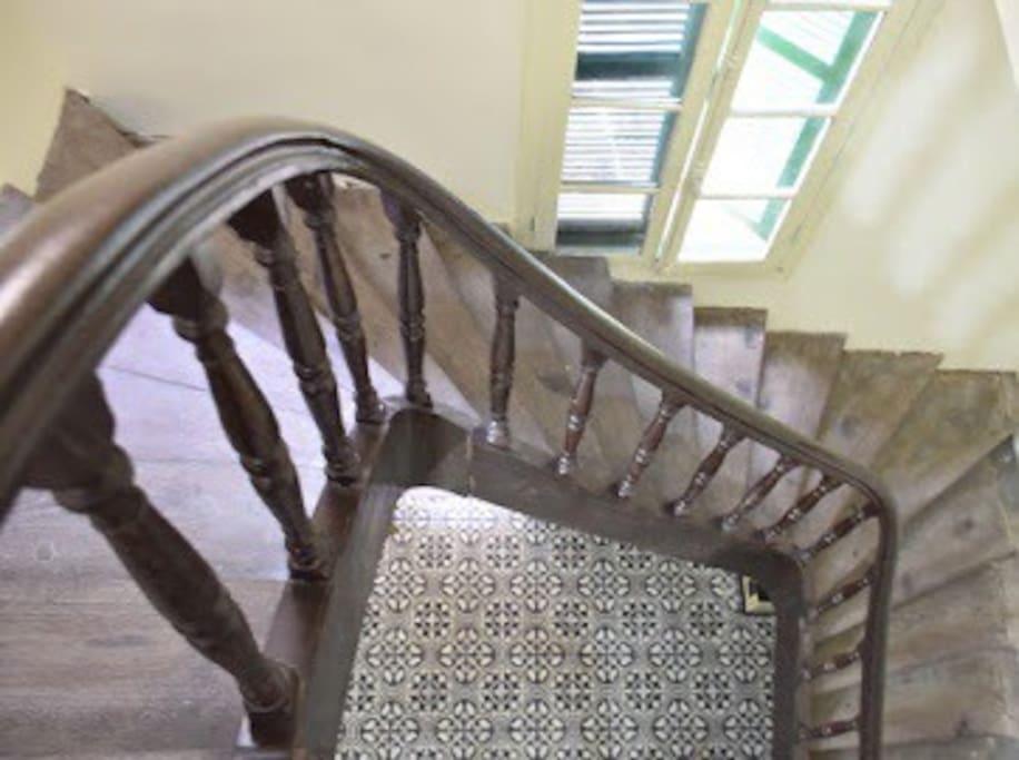 Original Wooden Stairs
