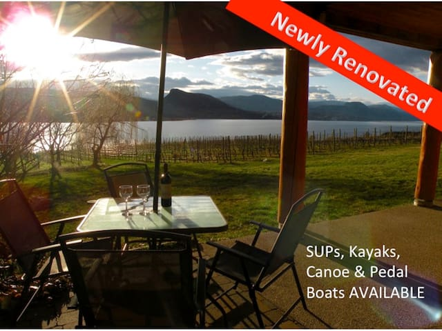 2 BR Lakefront Vineyard, sleeps 8 - Naramata - Appartement